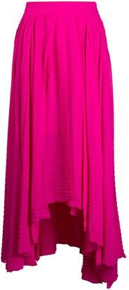 MSGM Handkerchief-Hem Pleated Skirt