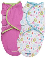 Summer Infant SwaddleMe 2 PK Cotton Knit - Sweet Trees/Pink - Small/Medium
