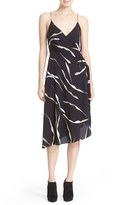 Diane von Furstenberg Women's 'Brenndah' Print Stretch Silk Faux Wrap Slipdress