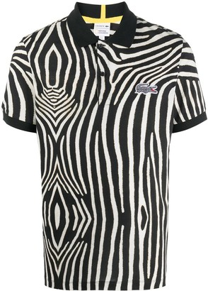 Lacoste Zebra Print Polo Shirt