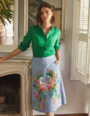 Briscoe Embroidered Midi Skirt