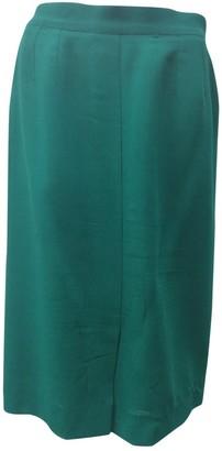 Saint Laurent Green Wool Skirt for Women Vintage