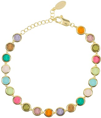 Latelita Sardinia Multi Coloured Gemstone Bracelet Gold