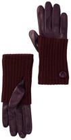 Portolano Ribbed Cuff Leather Gloves