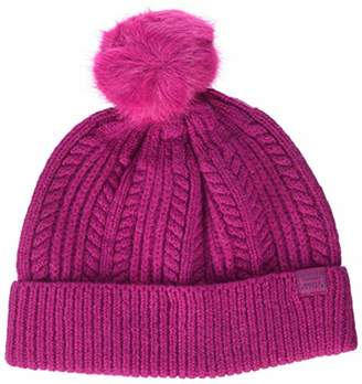 Joules Women's Bobble hat Beanie, Off- White Oatmeal, (Size: One)