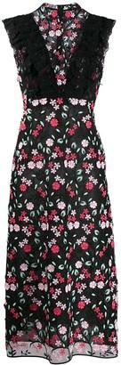 Giamba floral embroidered maxi dress