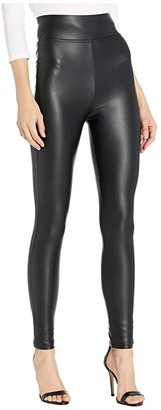 Plush Fleece-Lined High-Waisted Liquid Leggings (Black) Women's Casual Pants