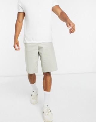 ASOS DESIGN wide chino shorts in beige