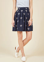 PepaLoves What's All the Racket? A-Line Skirt in Navy in M
