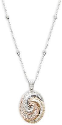 Effy 14K Tri-Tone Gold Diamond Pendant Necklace