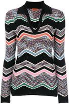 Missoni striped v-neck jumper