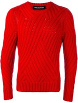 Neil Barrett contrast knit sweater