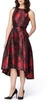Tahari Metallic Jacquard Midi Dress