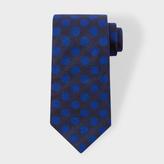 Paul Smith Men's Navy And Indigo Polka Dot Silk Tie
