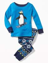 Old Navy Penguin Snowboarder Sleep Set for Toddler & Baby