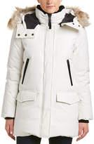 Mackage Juliann Leather-Trim Down Coat
