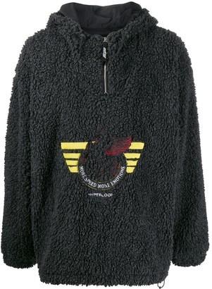 MSGM Shearling Hooded Fleece