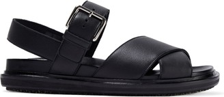 Marni Textured-leather Slingback Sandals