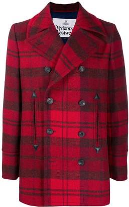 Vivienne Westwood Double-Breasted Tartan Coat
