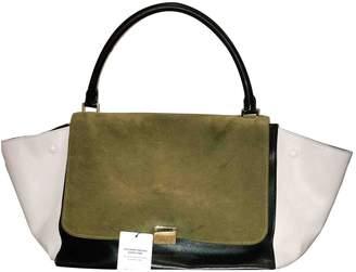 Celine Trapeze Khaki Suede Handbags