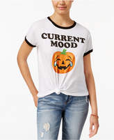 Mighty Fine Juniors' Pumpkin Graphic T-Shirt