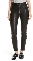 Rag & Bone Women's Kiku Leather High Waist Ankle Skinny Pants