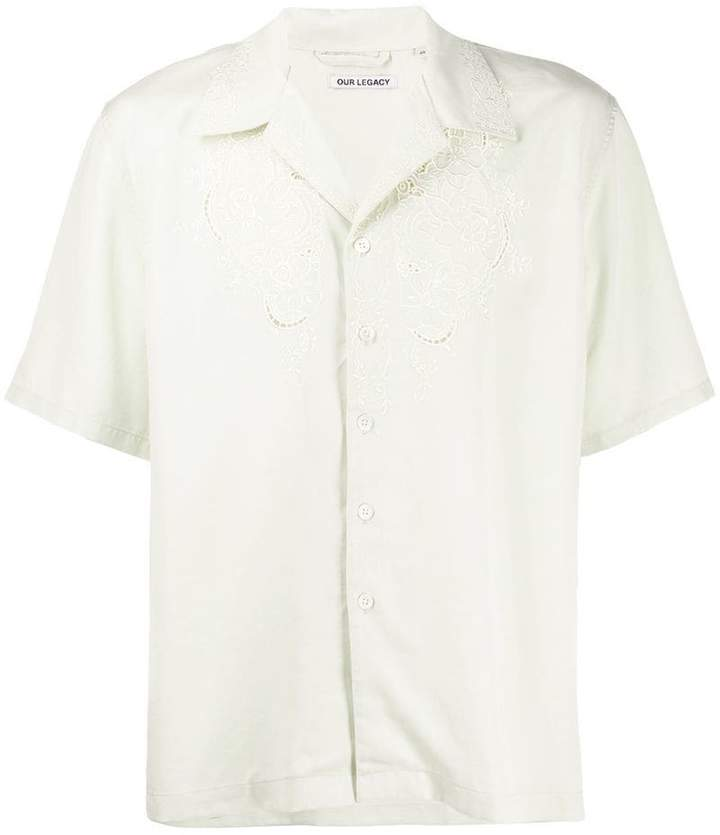 Our Legacy embroidered chest shirt