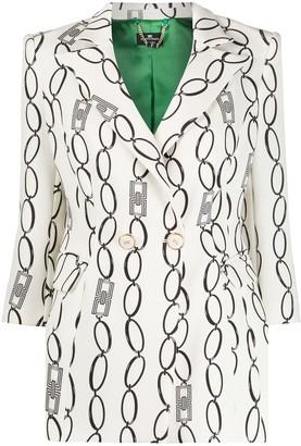 Elisabetta Franchi Chainlink Print Blazer