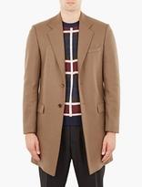 Maison Margiela Brown Single Breasted Wool Coat
