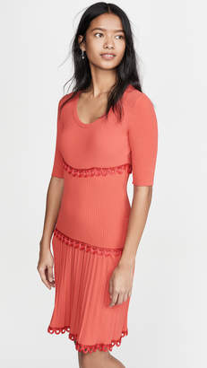 Moschino Short Sleeve Pleated Mini Dress