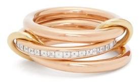 Spinelli Kilcollin Rene Diamond & 18kt Rose Gold Ring - Rose Gold