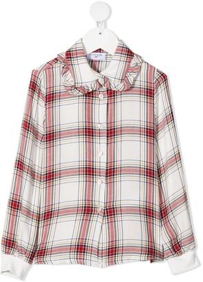 MonnaLisa Disney patch plaid shirt