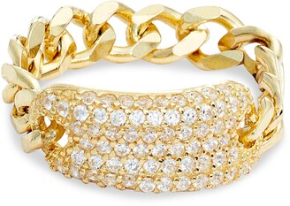 Adina's Jewels Pave ID Chain Ring