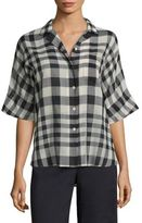 Theory Ralfinn Plaid Cotton Shirt