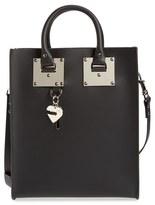 Sophie Hulme 'Mini Albion' Leather Tote - Black