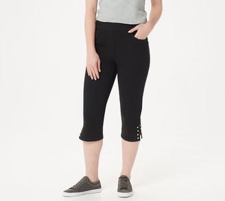 Factory Quacker DreamJeannes Capri Pants with Faux Pearl Detail