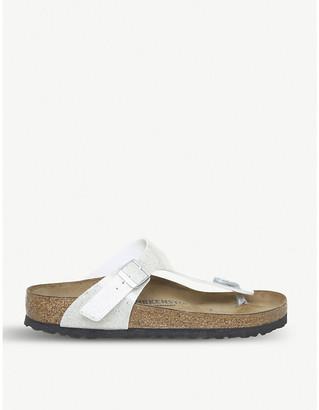 Birkenstock Gizeh toe-post faux-leather sandals