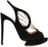 Nicholas Kirkwood 120mm 'Hepworth' sandals - women - Leather/Suede - 37.5