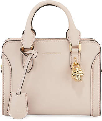 Alexander McQueen Padlock Mini Smooth Leather Tote Bag