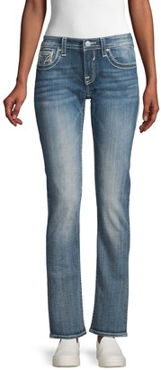 Vigoss Embroidered Straight Jeans