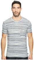 7 For All Mankind Short Sleeve Abstract Stripe Tee Men's T Shirt