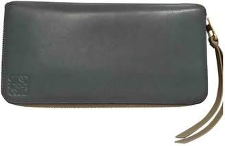 Loewe Blue Leather Wallets