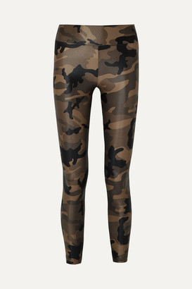 Koral Lustrous Camouflage-print Stretch Leggings - Army green