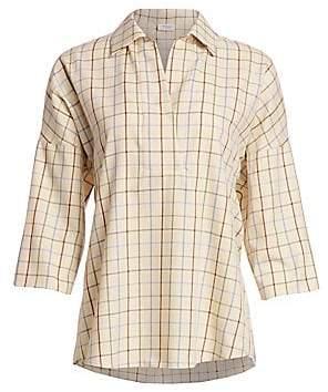 Akris Punto Women's Checked Kimono Blouse