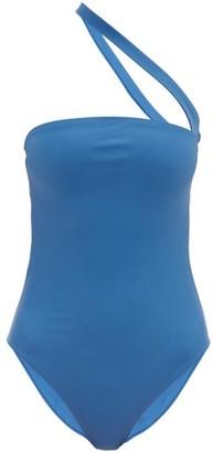 JADE SWIM Halo One-shoulder Cutout Swimsuit - Womens - Blue