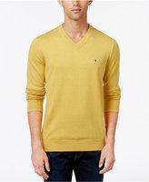 Tommy Hilfiger Men's Signature Solid V-Neck Sweater
