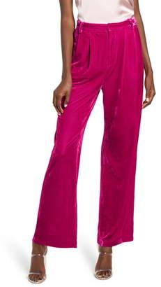 Endless Rose Velvet Wide Leg Pants