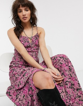 Free People Bon Voyage printed maxi dress