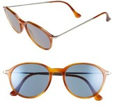 Persol Men's 51Mm Sunglasses - Light Havana