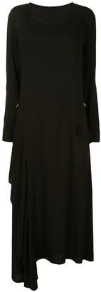 Yohji Yamamoto Draped Long-Sleeve Dress